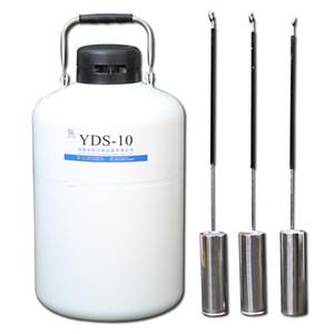 бак жидкого азота сосуд Дьюара yds 10 газовый баллон колба спермы 10L портативный контейнер для хранения