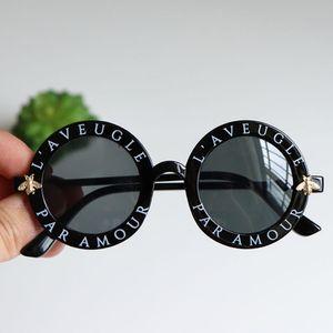 2019 lunettes de soleil pour enfants fille bébé garçon mignon cadre rond d'été de petites lunettes de soleil lunettes abeille ronde version coréenne mode enfants