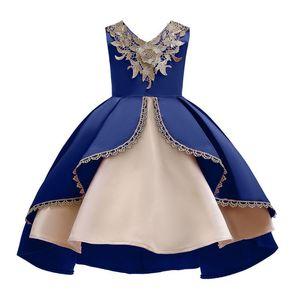 (2T-10T) sem mangas bordado gumes rendas irregular saia princesa vestido pettiskirt saia flor menina Infantil S4