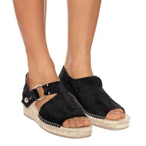 Litthing New Summer Sandals Retro Platform Sandals With High Heels Wedges Shoes For Women Plus Size Hemp Sandals Zapatos Mujer
