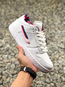 Novo lançado Parra SB sapatos de skate Dunk 2019 branco rosa baixo peludo dos homens das mulheres Designer de esportes Casual Sneakers Top Quality tamanho 36-45