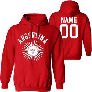ARJANTİN erkek kazak özel isim numara ARG ülke spor salonları ar bayrak ispanyolca argentine ulus baskı metin giysiler sweatshirt'ü