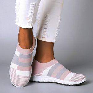 HKXN Casual Bottom T02 Casual Größe Womens Wohnungen Schuhe Schuhe Socks 2020 Leichte Große Neue Frühling Atmungsaktive weiche ohjww