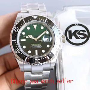 Самое лучшее качество Montre de luxe Ks Sea Dweller 126600 116610 126710 зеленый циферблат ETA 2836 Menchanical автоматическое движение водонепроницаемый 100 м