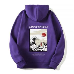 Gato engraçado Fashion-Onda do japonês velo estilo do inverno Hoodies homens / mulheres Hip Hop Impresso Casual hoodie de impressão Moletons Streetwear 3XL