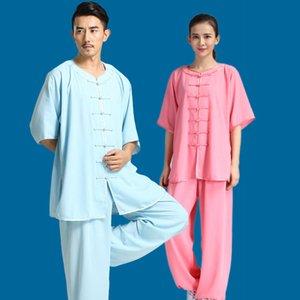 Abbigliamento tradizionale cinese per uomini KungFu Uniforme Wushu Suits Arti marziali per donne Costumi Taichi Esercizio sportivo mattutino