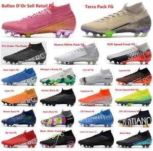 New Crampons Mercurial Superfly VI 360 Chaussures de soccer Elite Mbappé x Bondy KJ 13s Ronaldo CR7 Hommes Football Bottes Crampons Taille 39-45