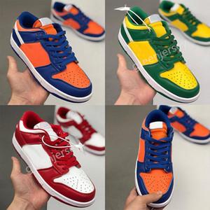 SB Dunk Low SP Running Shoes Men Women Brazil Champ Colors University Red Mens Designer Trainers Sport Skateboard Sneakers Size 36-45