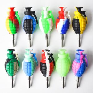 Muliti Цвет граната силиконовые нектар коллектор 14 мм совместное с GR2 Титана ногти силиконовые крышки буровых установок Бесплатная доставка