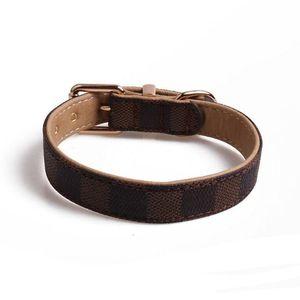 Nouveau collier de chien Motif Pu Animaux en cuir Colliers personnalité réglable Chat Laisses extérieur Mignon Accessoires Collier pour chien