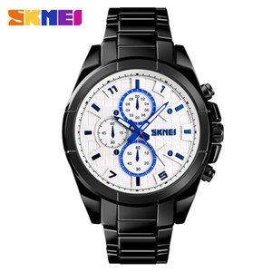 Novos Negócios Estilo Men Watch impermeável Sport Quartz Relógio de pulso de aço inoxidável Pulseira Fecho dobrável com Segurança 1378