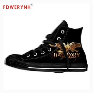 Men Walking Shoes High Top Canvas Shoes Bathory Metal Music Rock Band Maker Fashion Lightweight Breathable For Women Men