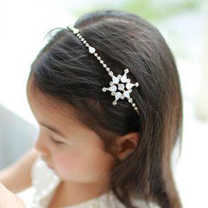Piuttosto monili della fascia band neonate bianco del fiocco di neve in rilievo dei capelli di modo Diamante Accassorize Capelli Party Girls Flower