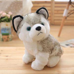 Husky собаки плюшевые игрушки маленькие чучела животных игрушки куклы 18см подарков Дети Рождественский подарок Фаршированные Плюшевые игрушки Бесплатная доставка