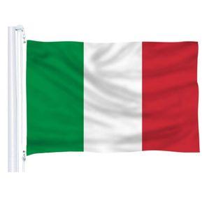 90x150cm Drapeau italien 3x5ft Pays Blanc Vert Rouge Drapeaux Nationaux de l'Italie bon marché de haute qualité vol suspendu intérieur extérieur tout style