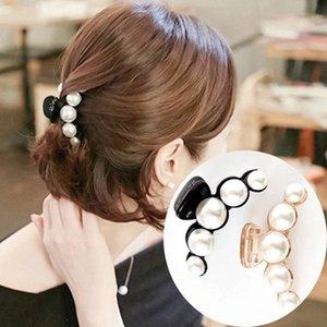 15 UNIDS / Emulational Perla Superior Pinzas para el cabello Crystal Rhinestone Pinza de pelo Pelo cangrejo Garras de plástico para las mujeres Pinza de resina Barette