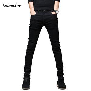 Jeans da uomo Kolmakov stile arrivo stile di alta qualità moda casual sottile elastico elastico nero matita pantaloni pantaloni skinny 27-36