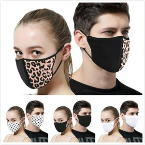Anti-Dust Cotton Mouth Face Massk Unisex Man Woman Cycling Wearing Black Leopard print Fashion Cotton Masks Good Quality