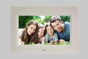 7 بوصة إطار الصورة الرقمية للصور عالية الدقة الالكترونية ألبوم رقيقة جدا المحمولة شاشة LCD صور زفاف هدية الإطار الرقمي