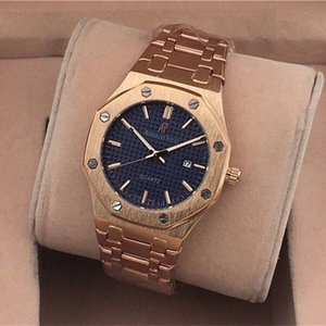apluxury automatic mechanical watches classic style 42mm full stainless steel strap top quality wristwatches sapphire