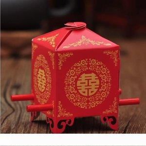 candy box creativo sposa portantina trasporto libero del contenitore di regalo di carta cinese scatole di favore di nozze wen5865