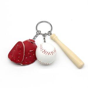 Baseball Three-Piece Suíte Chave Fivela Esportes Lembrança Chaveiros Criativo Portátil Chaves Anel Venda Quente Com Cores Diferentes 3 4bs J1