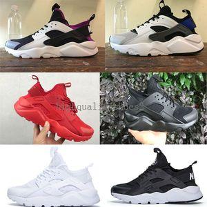 Nike Air Huarache 1 2 3 4 I II III IV e mulheres tênis de corrida preto vermelho branco sports trainer coxim respirável calçados esportivos airs 36-46