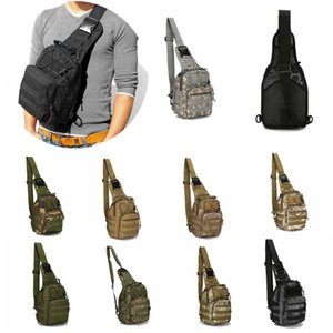 Tactical Chest Bags Military Canvas Messenger Crossbody Shoulder Backpack Camouflage Outdoor Sport Molle Sling Cycling Bag Satchel Day Packs