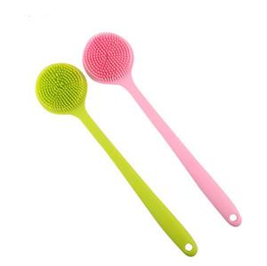Silicone Exfoliating Brush Scrubber Bath Scrub brushes Spa Anti Cellulite Back Bath Brush Exfoliation Shower Brush Body Massager LXL373-A