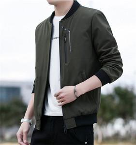 Stand Collare Mens Jackets Primavera Autunno sottile lunga del manicotto di colore solido uomo Cappotti casual Cardigan Streetwear Maschio Outerwears