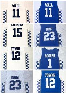 كنتاكي كلية مروحة متجر متجر على الانترنت للبيع الرجال لكرة السلة يرتدي، 3 أديبايو 11WALL 15 COUSINS 0 FOX 12 القرآن 23 DAVIS كرة السلة الفانيلة