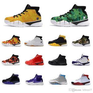 Cheap Mens ZK1 Bryants 1 Protro tênis de basquete para venda Oreo BHM Laker Páscoa MVP Natal novas cores zk 1s mamba sneakers botas com caixa