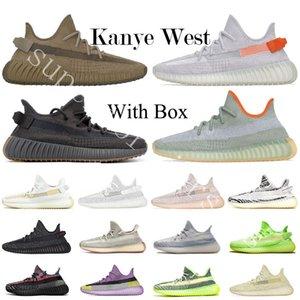 Big Size 13 Erde Yeshaya Cinder 2020 Kanye West Wüste Sage Reflective Herren Laufschuhe Yecheil Yeehu Rücklicht Marsh Black Angel Sneaker
