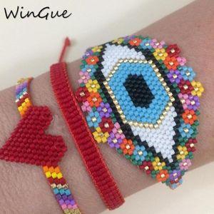 Il male turco del braccialetto dell'occhio MIYUKI Bracciale Boho Chic monili delle donne di Lucky Eye 2020 Beads Handmade Newst