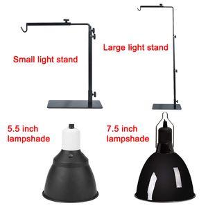 Reptile Lamp Stand Holder Aquecimento Lamp ajustável Suporte telescópico de metal Luz Hanger DC156 Reptile Supplies