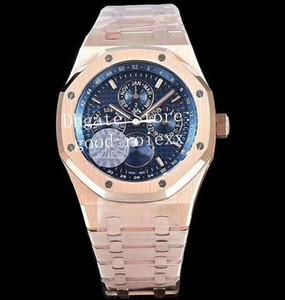 Orologi da uomo di lusso Mens Automatic Cal.5134 Orologio da uomo Moonphase Display Day Time 26574BA Calendario annuale Oak Moon Gold Sport Orologi da polso