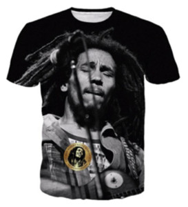 New Fashion Women men's T Shirts Reggae Bob Marley 3D Printing Men T-shirts Casual Men T Shirt Hip Hop Summer Tops RW0174