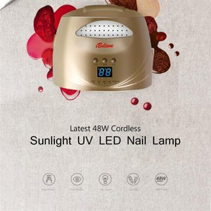 48W Nail Lamp Infrared intelligent induction 28pcs LED UV Double light source lamp beads Intelligent display time