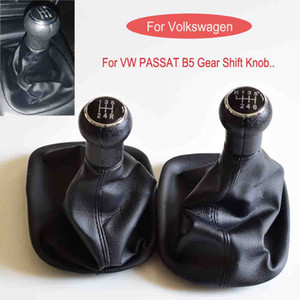 Manual 5 6 Speed Gear Head Stick Knob Lever Shifter With Leather Boot Cover For Volkswagen VW Passat B5 1996-2005