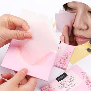 anitary carta velina facciale 100pcs / pack fibre vegetali Lino Pulp trucco Olio detergente carta assorbente Viso Assorbire assorbente Facial Cleanser ...