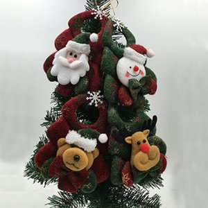 Cute 1PC Tree Ornaments Christmas Tree Hanging Decoration Parachute Snowman Santa Claus Pendant Xmas Drop Adornos