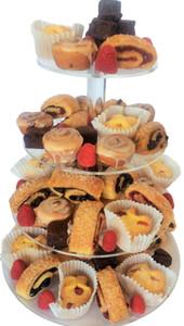 Frete grátis 4 Nível suporte acrílico Bolo, Perspex Cup Cake stand de exibição