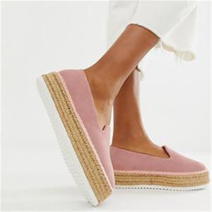 2020 LASPERAL pelle scamosciata del Faux Espadrillas Scarpe casual fannulloni donne ballerine confortevole signore Zapatos