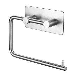 304 Stainless Steel Paper Towel Rack Simple Punch-free Towel Rack For Household Bathroom Home Improvement