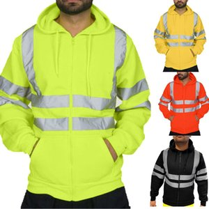 Spot 2020 explosion-proof reflective sanitation overalls plus velvet hooded jacket cold outdoor sweater, support mixed batch