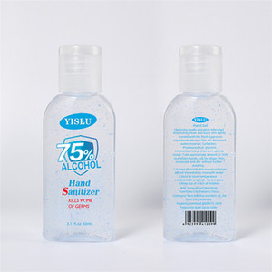60 ml disinfettante per le mani 75% alcool disinfettante Gel portatile disinfettante per le mani gel uccide 99.99% batteri