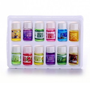 12 unids / set Aceites Esenciales Aceite de Perfume Soluble en Agua Aceite Esencial de Plantas Naturales Esencial