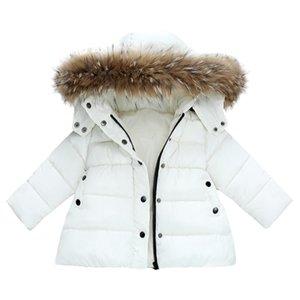 acolchado-algodón de la ropa de las muchachas de invierno nuevo estilo de ropa de mitad de la longitud de los niños pequeños los niños al estilo coreano más grueso rong