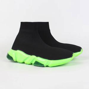 2019 New Paris Speed Runner Knit Sock chaussure originale luxe Entraîneur Runner Chaussures de sport Course Hommes Femmes Sport Chaussures Avec taille Box 35-45