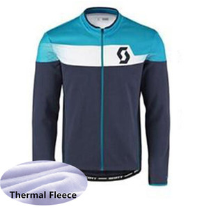 2019 SCOTT pro team cycling jerseys Winter Thermal Fleece long sleeve ropa ciclismo maillot ciclismo mountain bike clothes K053154
